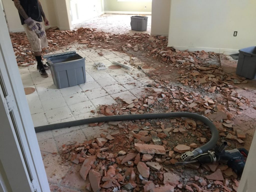 Carpet and Tile Removal in South Florida | DustBusters Floor Removal