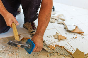 Professionally Removing Ceramic Tile in South Florida | Dustbusters Floor Removal